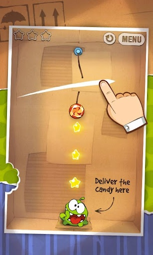 Cut the Rope - Cut the Rope, catch a star, and feed Om Nom candy in this award-winning game!