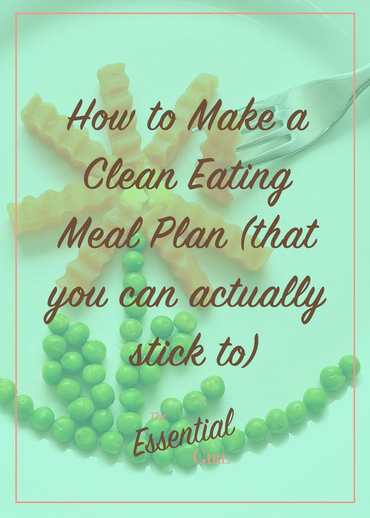 If you're anything like me, all those pre-made clean eating meal plans have a lot of foods you don't really like. Rather than relying on a plan drawn up by someone else, learn how to put together foods you like into your own clean eating meal plan. Click the photo to learn how today!