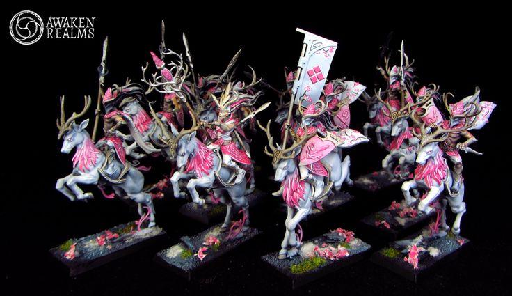Wood Elves Wild Riders of Kurunous japanese cherry blossom style
