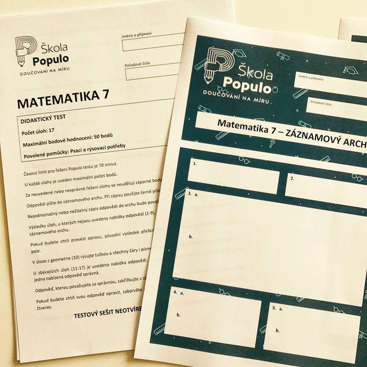 Právě teď začínáme s přijímacími zkouškami nanečisto 😁😰😍 Dvacet dětí stráví sobotní dopoledne ve Škole Populo a zkusí si CERMAT testy z matematiky a českého jazyka. Držte jim palce! ✊👌👍 #CERMAT #SkolaPopulo #matematika #ceskyjazyk