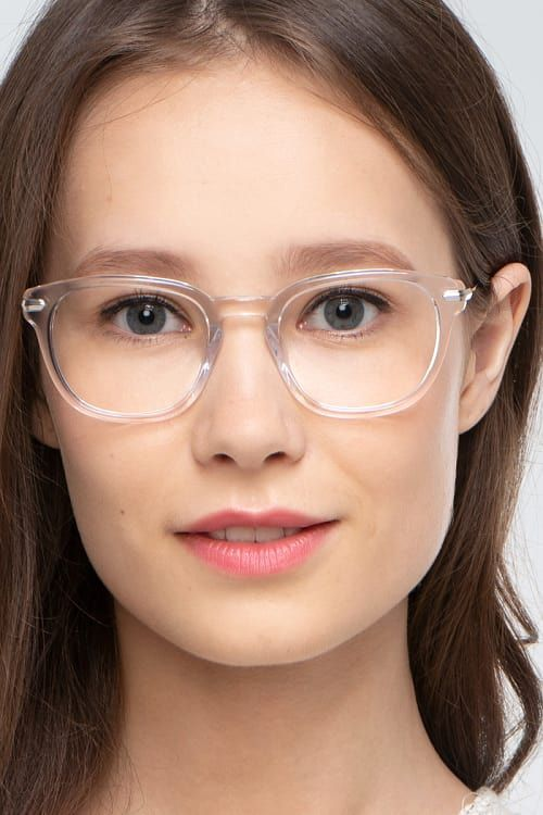 609a6fbafb Quazar Clear Acetate Eyeglass Frames for Women from EyeBuyDirect