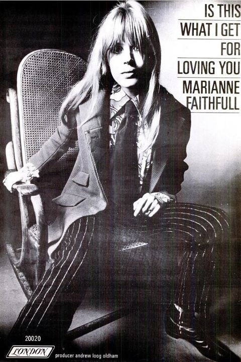 marianne faithful sure could pull off a suit!