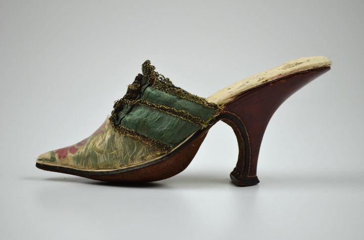 Pair Of Women S Mules 1720 1730 Floral Silk Brocade