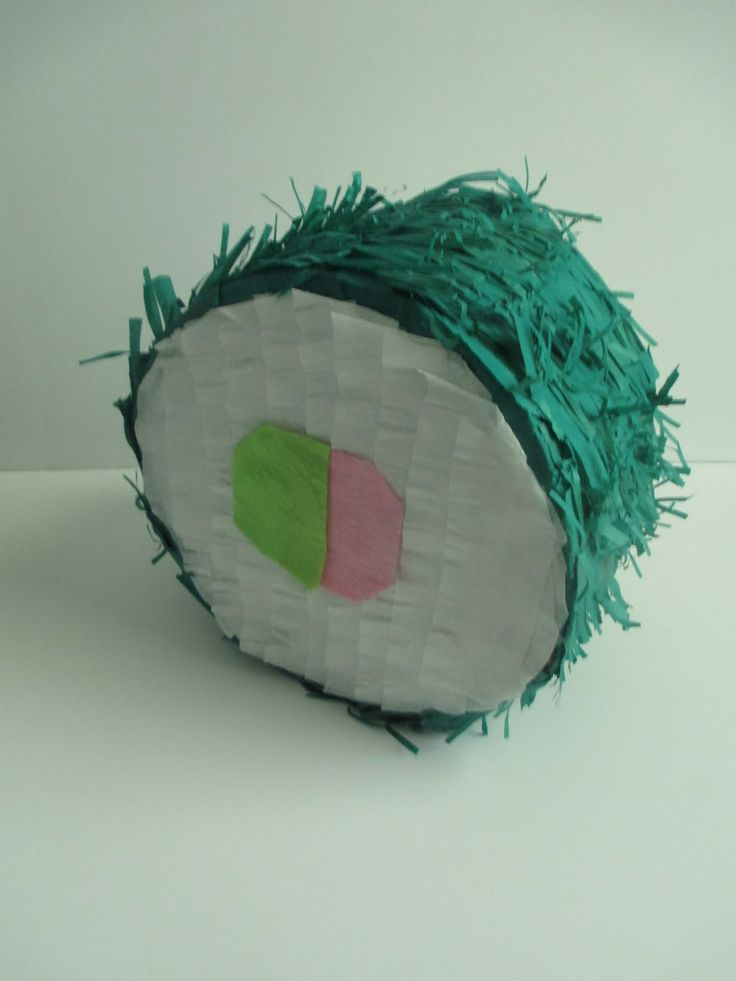 DIY Sushi Pinata craft | Confetti Casserole blog