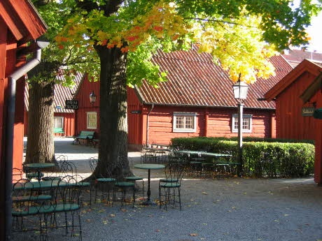 Rademacher forges in Eskilstuna are a collection of buildings originally built in the mid to late 17th century. The site is now a historical museum.