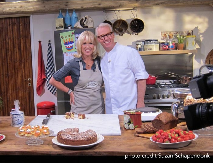 Annabel Langbein the Free Range Cook with Rudolph Van Veen at 24 Kitchen in the Netherlands - what fun!