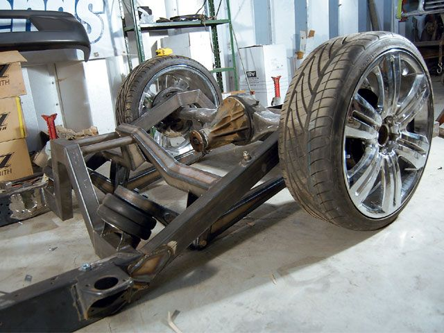 Custom cantilever air ride rear suspension system very for Suspension decorative
