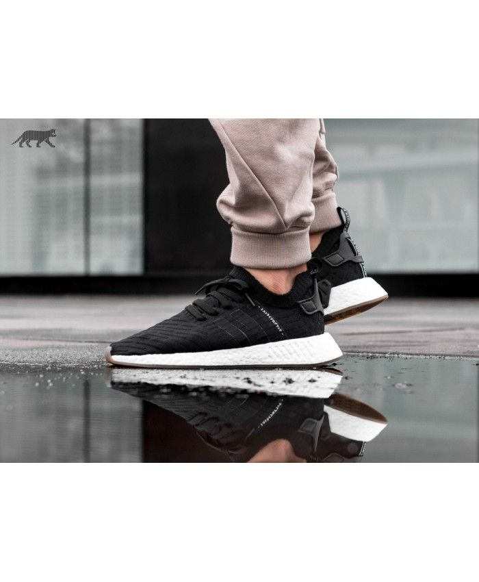 d4bc928dacfe3 Adidas Nmd R2 Pk Core Black Core Black Utility Grey Trainers ...