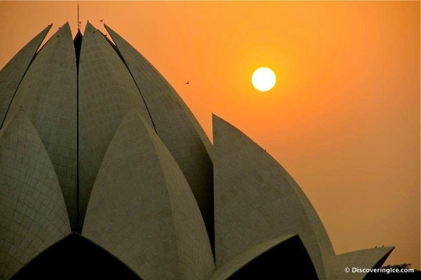 Lotus Temple, New Delhi, #India at sunset  Travel photography