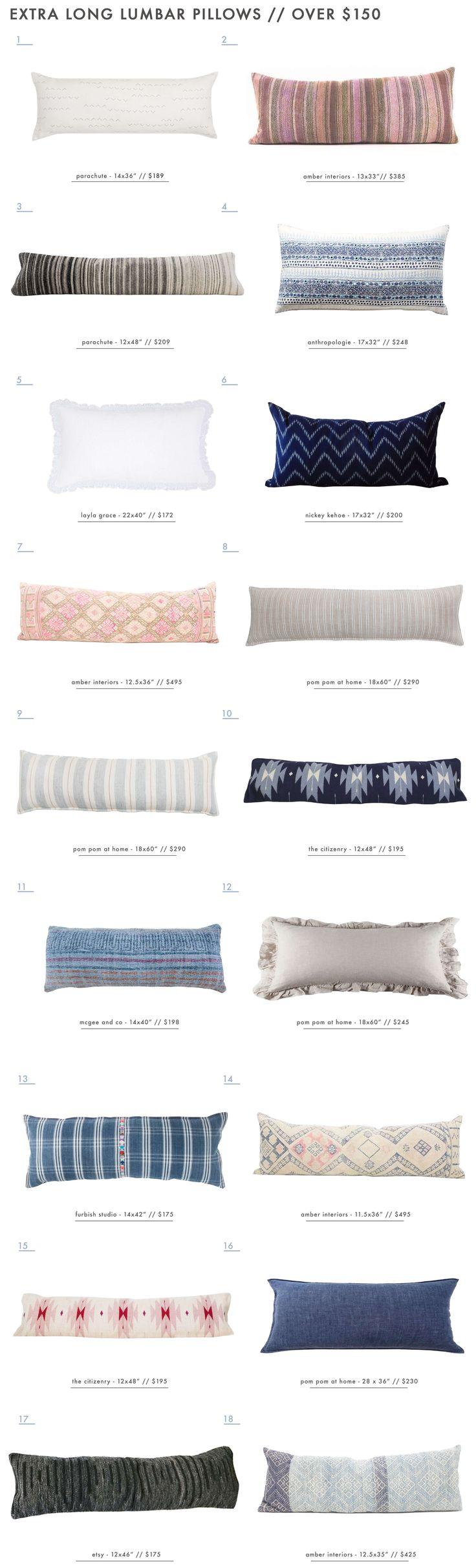 Our Extra Long Lumbar Pillow Roundup - Over $150