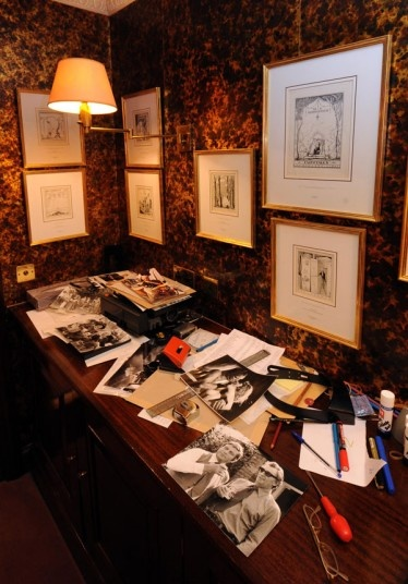 Michael Winner's editing room