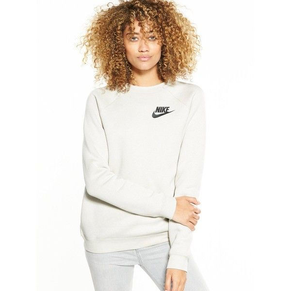 Nike Sportswear Rally Crew Sweat ($55) ❤ liked on Polyvore featuring activewear, activewear pants, nike activewear, nike activewear pants, nike and nike sportswear