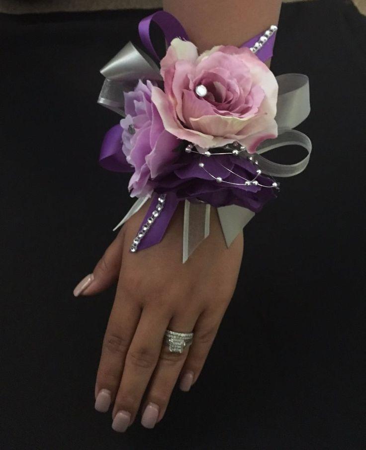Purple and Lavender wrist corsage/ wedding  wrist corsage/ Prom Wrist corsage  #CuadraHauckCreations
