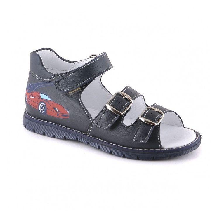 туфли сандалии детские для мальчиков синие натуральная кожа Скороход
