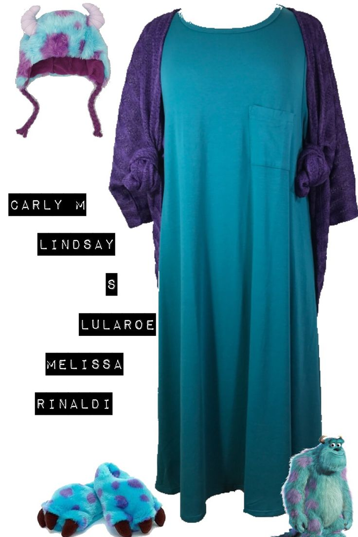 Sully from Monster Inc.  Lularoe Carly and Lularoe Lindsay.  An awesome comfortable Halloween costume!