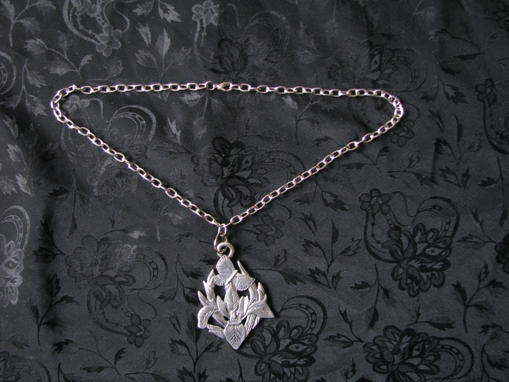 Pewter Bird/Flower  Pendant    http://www.facebook.com/pages/Ebb-and-Flow-Custom-Jewellery/534531073247136