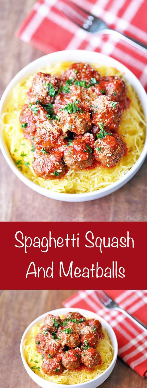 An easy recipe for spaghetti squash and meatballs ensures that you will never miss the beloved high carb dish again!