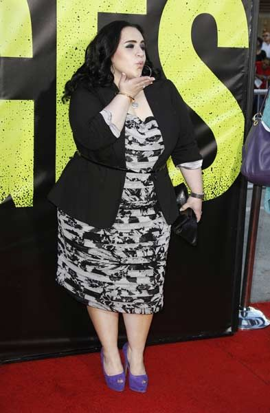 Actress Nikki Blonsky arrives at the premiere of the film