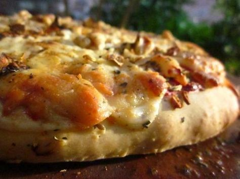 """""""World's Best Bread Machine Pizza Dough"""" - living up to it's name, so far. Can be successfully used for homemade frozen pizzas. (ps - I left out onion powder, the sugar, and used Penzy's """"herbes de provence"""" instead of italian spice blend)"""