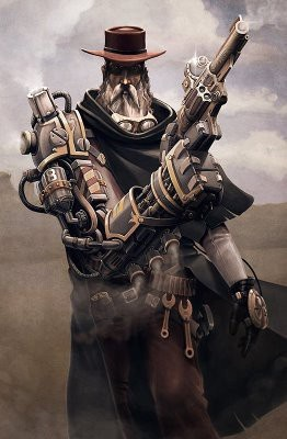 Steampunk cowboy: Amazing Steampunk, Steampunk Gandalf, Steampunk Stuff, Art Sketch, Art Steampunk, Steampunk Gunsl, Steam Punk, Steampunk Cowboys, Steampunk Illustrations