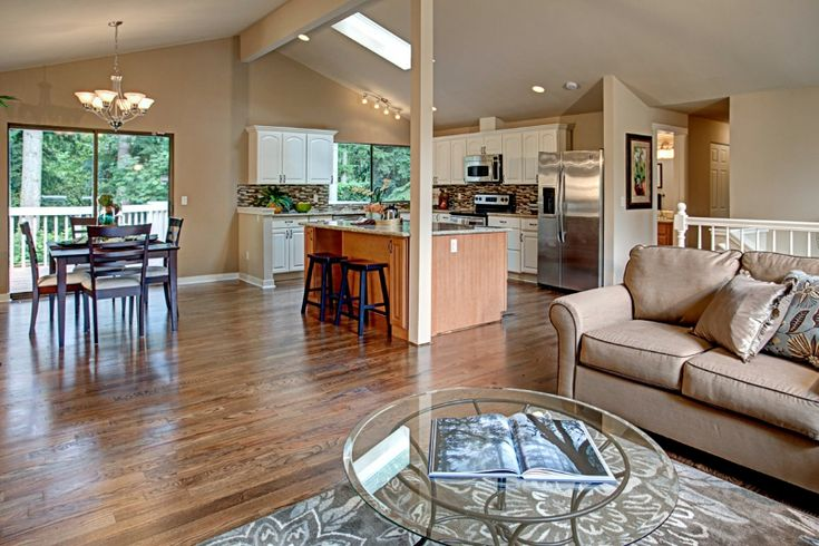 Pin By Leah Tetzlaff On Gramma S House Ranch House Remodel Ranch House Remodel Interior Ranch Kitchen Remodel Open concept kitchen ranch house