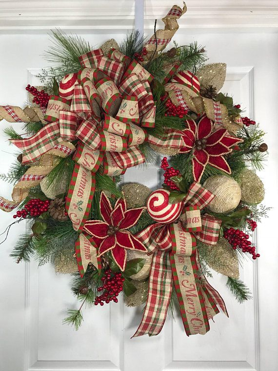 Spring Wreaths For Front Door Front Door Spring Wreaths Etsy Christmas Floral Holiday Wreaths Front Door Christmas Decorations
