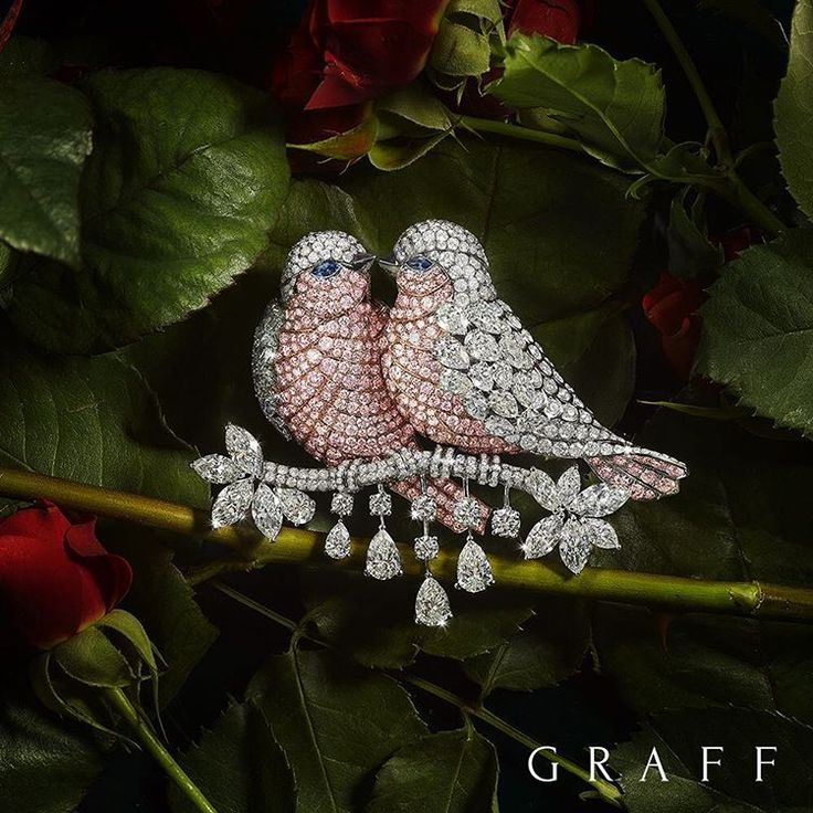 """Flight of Fancy - A statement brooch, the perfect gift for the one you love. Inspired by the beauty of nature it features two beautiful love birds and is…"""