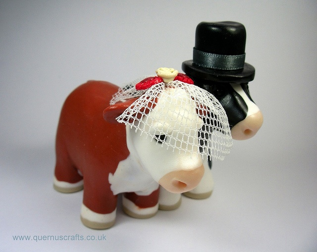 Wedding Cows cake topper