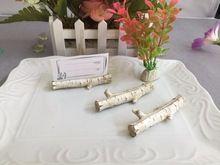 200 pçs/lote + natureza estilo bétula lugar cartão titulares favores originais do casamento & Party decoração Favor Gift + frete grátis(China (Mainland))