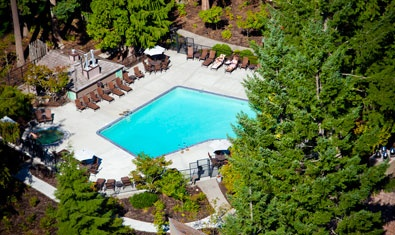 The Resort pool from overhead