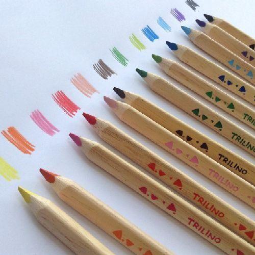 Herlitz Trilino 12 darabos, natúr, vastag háromszög alakú színes ceruza készlet - Színes ceruzák Ft Ár 1,349