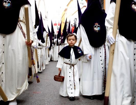 Procession of the Nazarenos, Holy Week, Seville, Spain