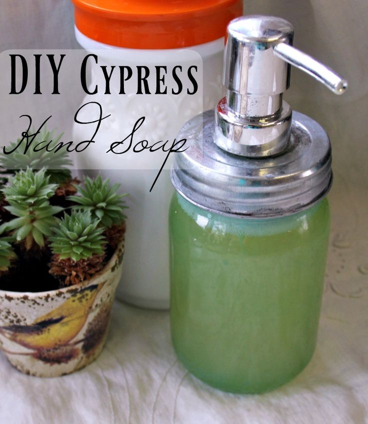 Making your own homemade hand soap is so easy! This DIY hand soap has a cypress…