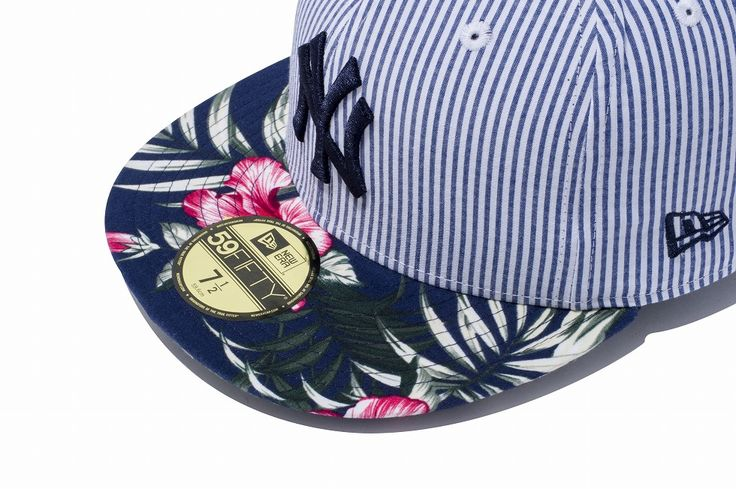 New Era Online Store (ニューエラ・オンラインストア)【直営限定】 59FIFTY Seersucker & Aloha ニューヨーク・ヤンキース ネイビーアロハバイザー(7 (55.8cm)): 59FIFTY