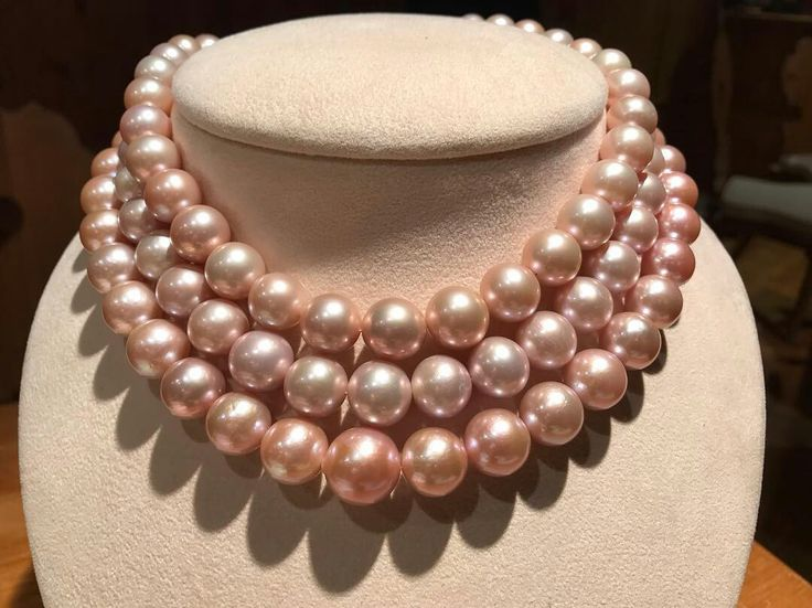 Repost @luca1959highjewellery Rare and large Pink Pearls.  Rare e grandi Perle Rosa.