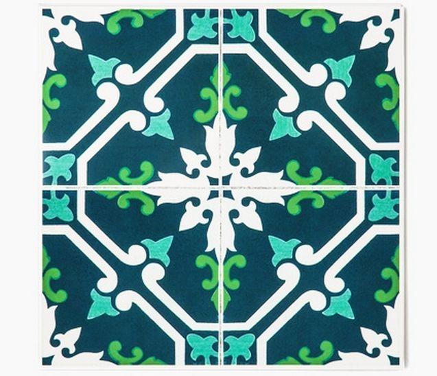 Decolfa Tile Sticker (Dark Blue) For DIY Decorate Home Design Art Kitchen Room