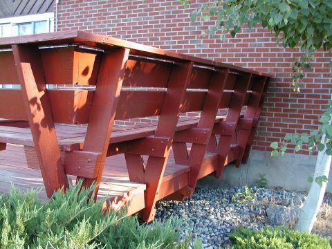 Custom Deck Bench and Railing