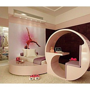 A Gymnastics Bedroom For A Girl! I Just Like The Desk!