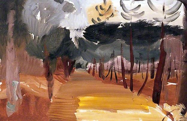 Early Winter Walk, Ivon Hitchens