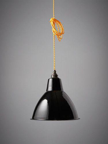 Nostalgia Lights Small Dome Enamel Shade. Black   Warehouse Home   Nook London   Interior Design   Lighting