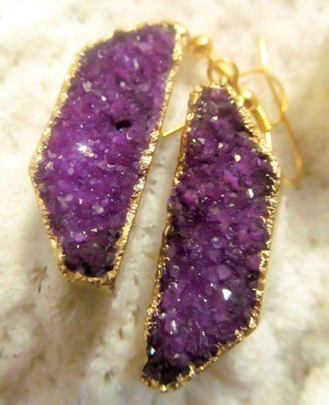 #druzi nin ışıltılı gizemi#earrings #purple #love