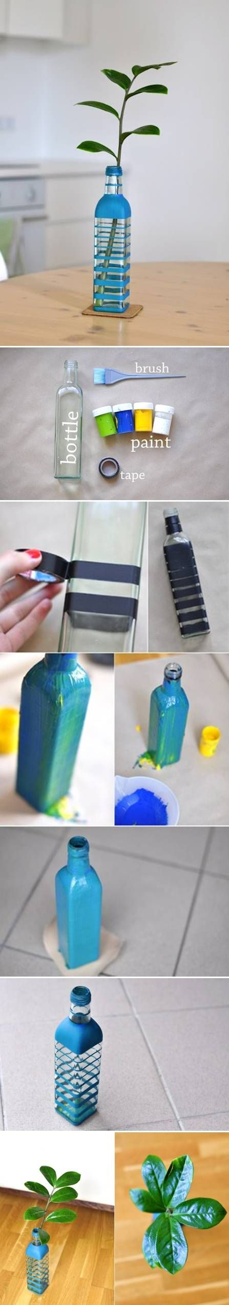 DIY Colored Bottle Vase
