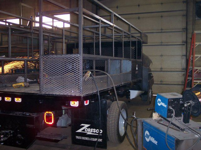 Custom truck bed storage by M and M Certified Welding Company in Cleveland, Ohio.
