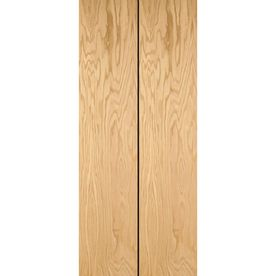 ReliaBilt 24 In X 79 In Flush Hollow Core Oak Interior Bifold Closet Door