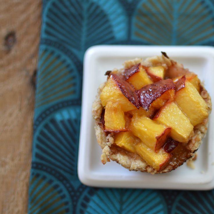 Mini Nectarine Pies with Honey Greek Yogurt   Karolina's Kitchen