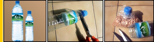 Tutto cio' che serve e' una bottiglia di plastica dotata di tappo ed un paio di forbici.    Prendete la bottiglia e tagliate la parte superiore, quella con il tappo, ad un'altezza di pochi centimetri. Togliete il tappo, inserite il sacchetto di plastica nel collo della bottiglia e richiudete il tappo: in questo modo il contenuto dei sacchetti di plastica per alimenti si conservera' meglio.