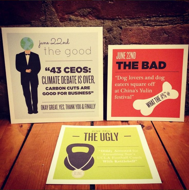 Freckled. Fun Gifts & Fine Paper - The Good, the Bad and the Ugly | June 22nd, 2015