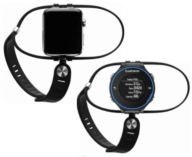 SHIFT band made of Viton (Same material used for the Apple Watch Sport band.) Adapters to connect your watch (Please select below) For Garmin only - tool to remove existing band Adjustable to wear on either left or right hand Multiple size thumbstraps to ensure a comfortable fit