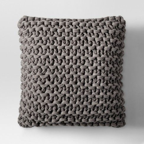 Throw pillows are a brilliant and easy way to change the look of a couch or chair. If you're hesitant to introduce textures or patterns, the Large Knit Throw Pillow from Project 62™ will guide you out of your comfort zone. Chunky knits are popular because simple stitches have a big impact, especially when set against smaller weaves or patterns. Still maintaining plenty of personality, this pillow fits in among solid and patterned pillows alike, and can also stand on its own.<b...