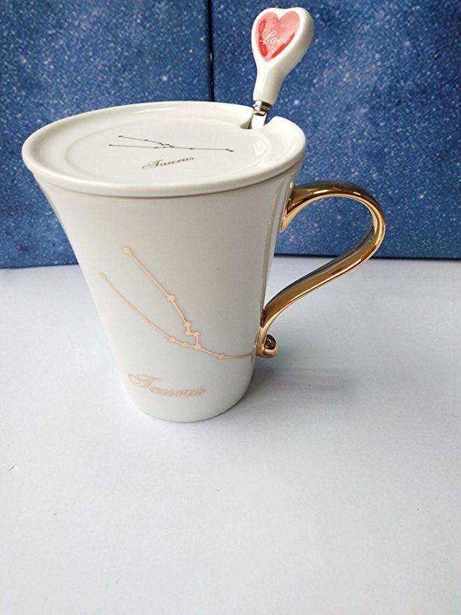 Amazon Com Coffee Mug 10 Oz Taurus Constellation Coffee Cup Thematic Tea Cup Ceramic Mug With Gift Box Coffee Cups Mugs Coffee Mugs Mugs Tea Cups
